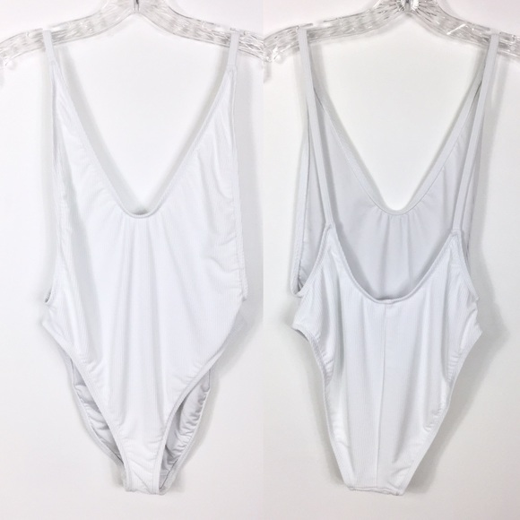 082ac39083d7 Dippin' Daisy's Swim | Dippin Daisys White One Piece Low Back Suit M ...